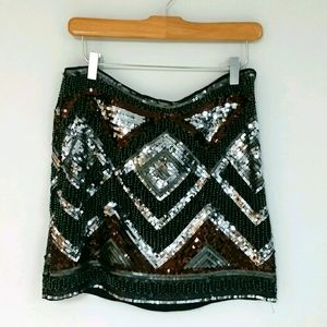 NWOT H&M Beaded Mini Skirt